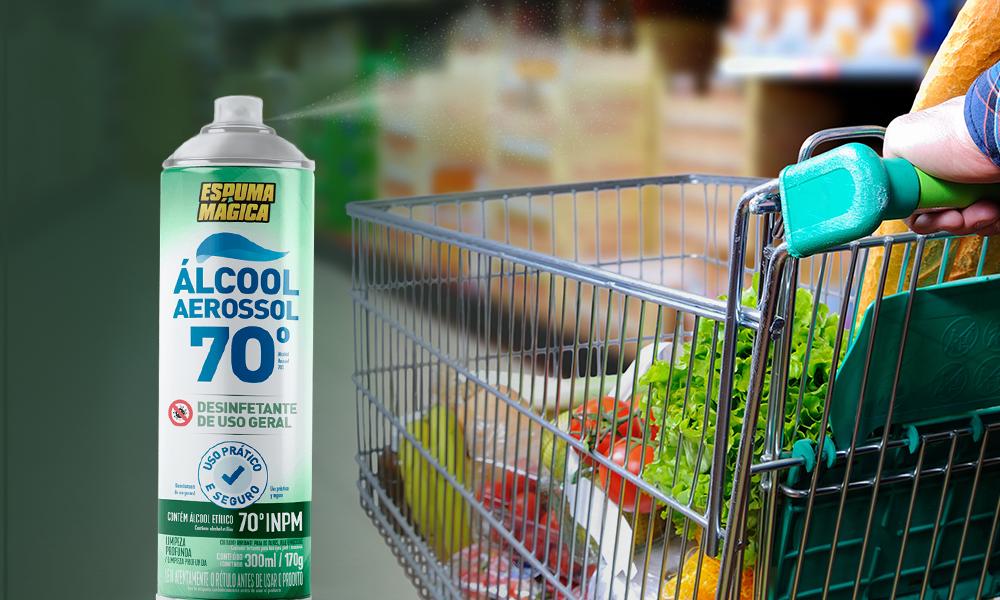 Espuma Mágica - Saiba como higienizar as compras do mercado