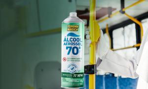 Espuma Mágica Álcool 70_ higienização em qualquer hora e lugar